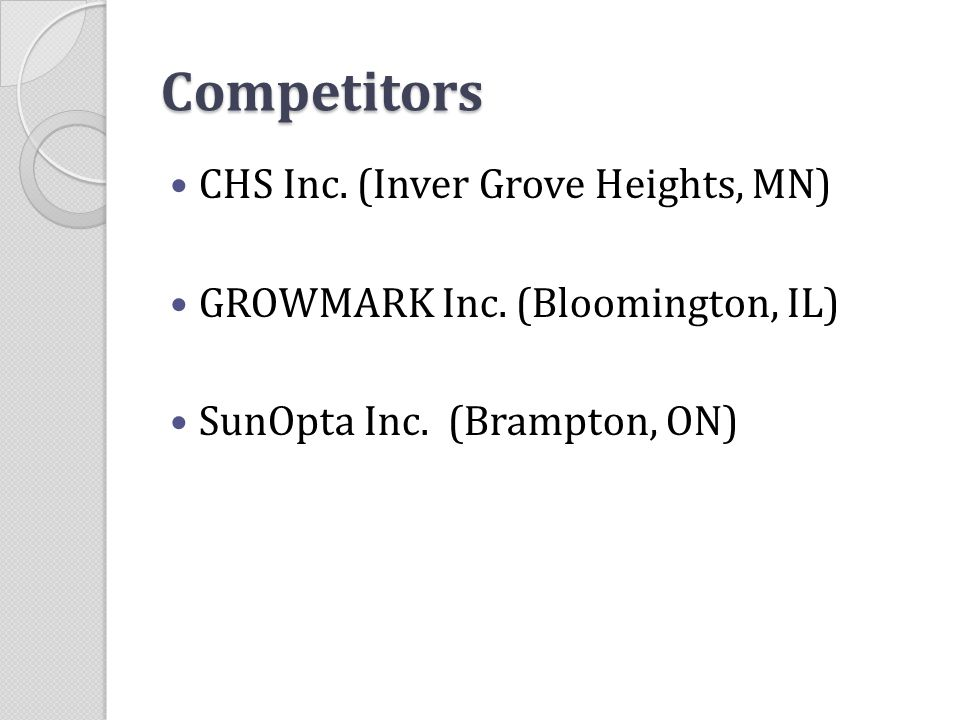 Competitors CHS Inc. (Inver Grove Heights, MN)