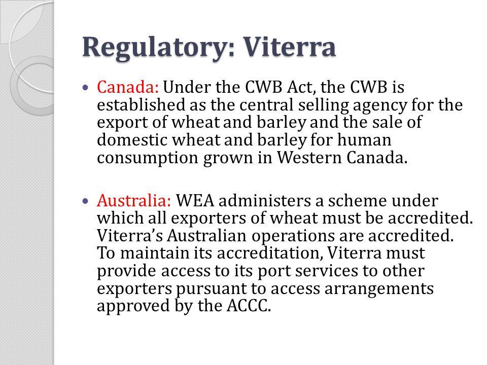 Regulatory: Viterra