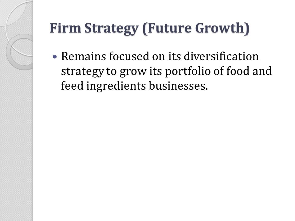 Firm Strategy (Future Growth)