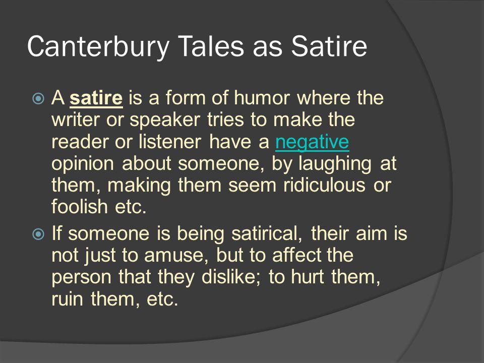 Canterbury Tales as Satire
