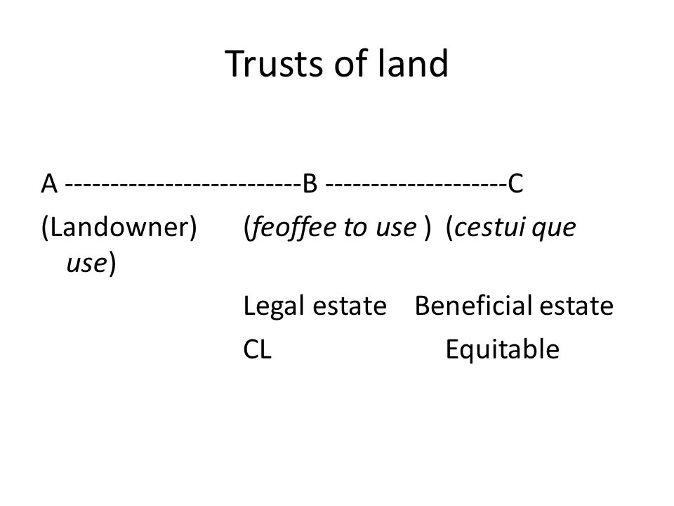 Trusts of land