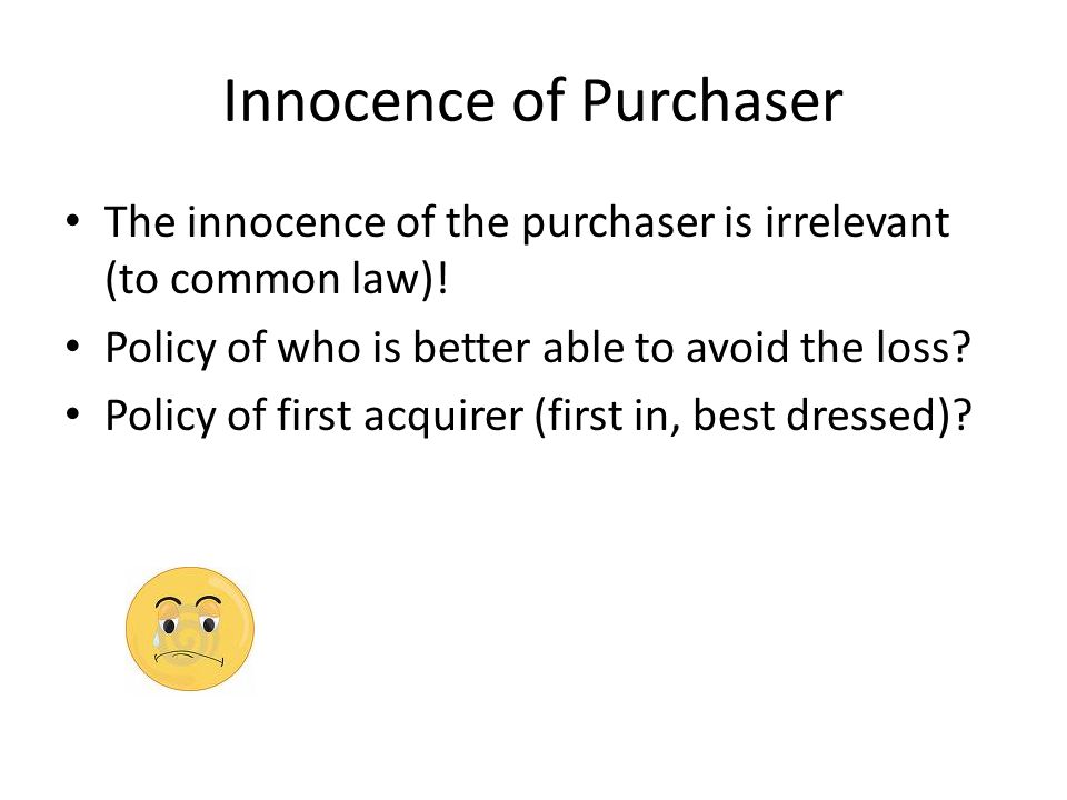 Innocence of Purchaser
