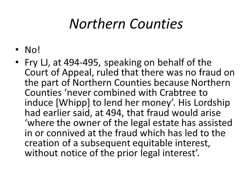 Northern Counties No!