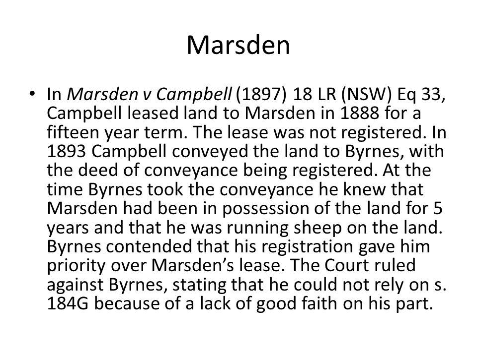 Marsden