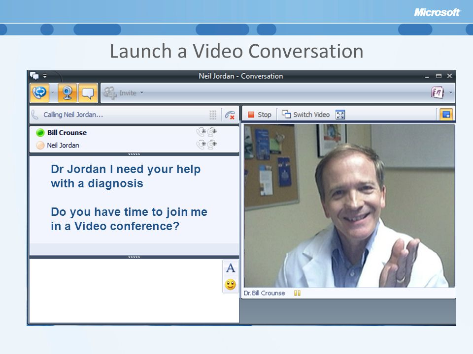 Launch a Video Conversation
