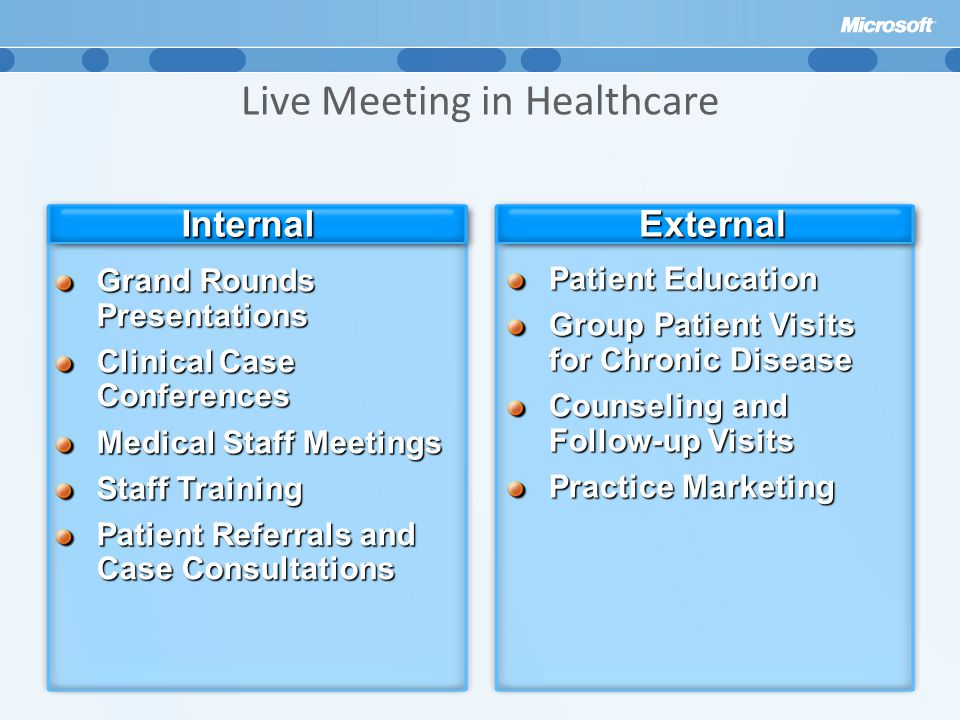 Live Meeting in Healthcare