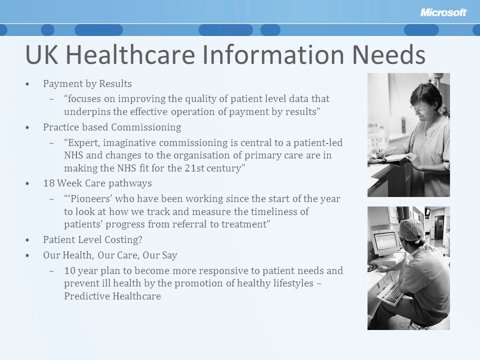 UK Healthcare Information Needs