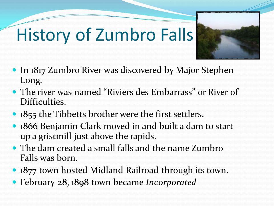 History of Zumbro Falls