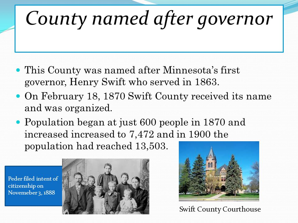 County named after governor