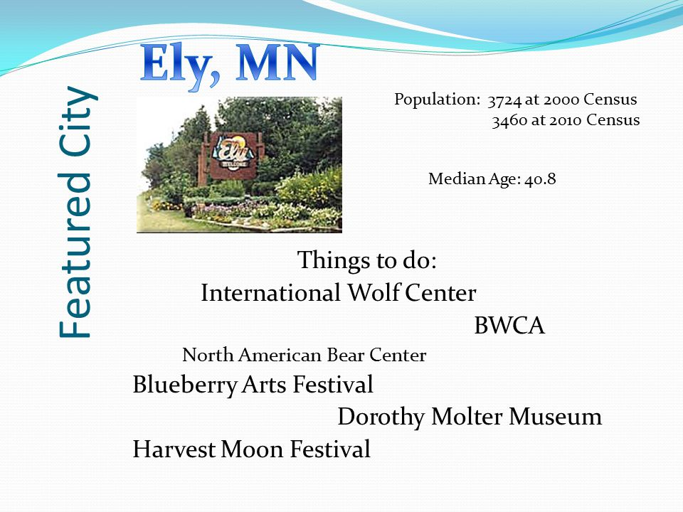 Ely, MN Featured City Things to do: International Wolf Center BWCA
