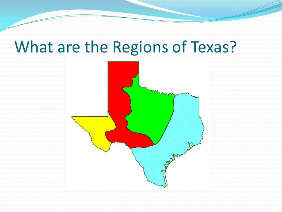 What are the Regions of Texas