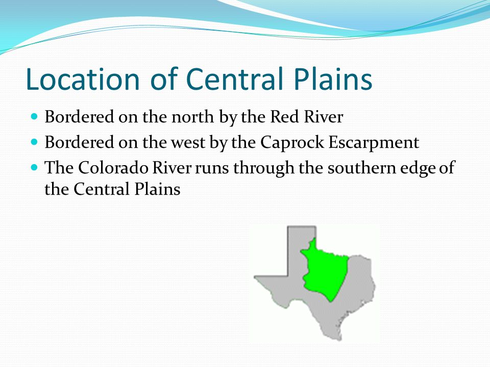 Location of Central Plains