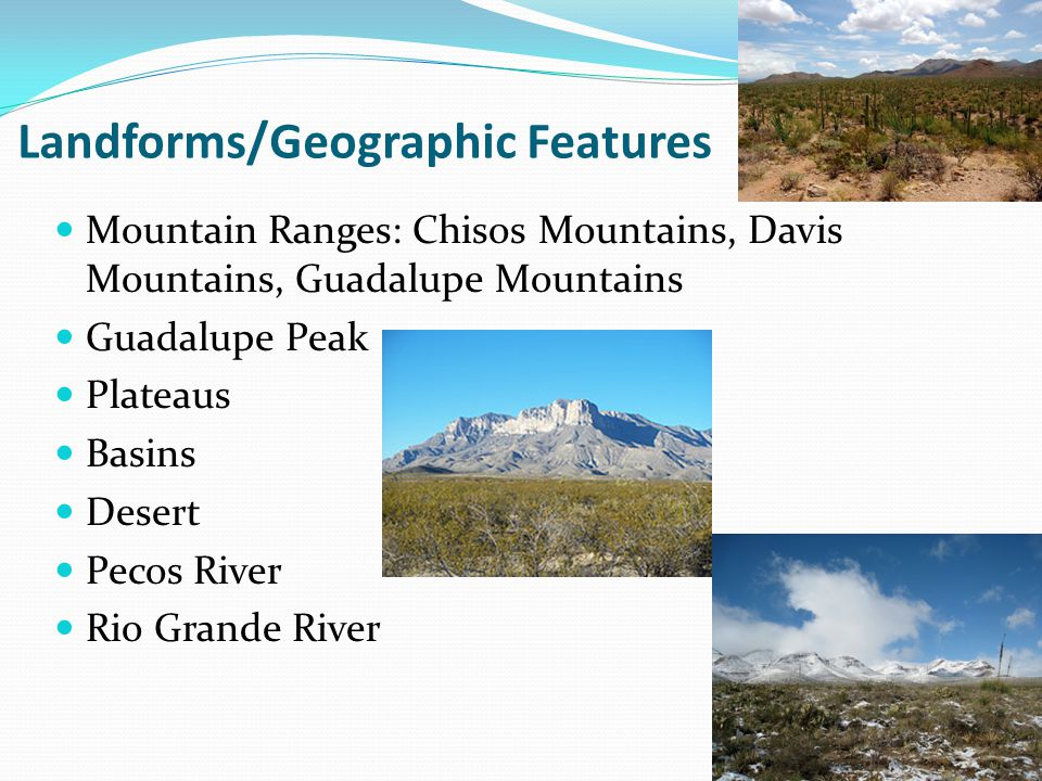 Landforms/Geographic Features