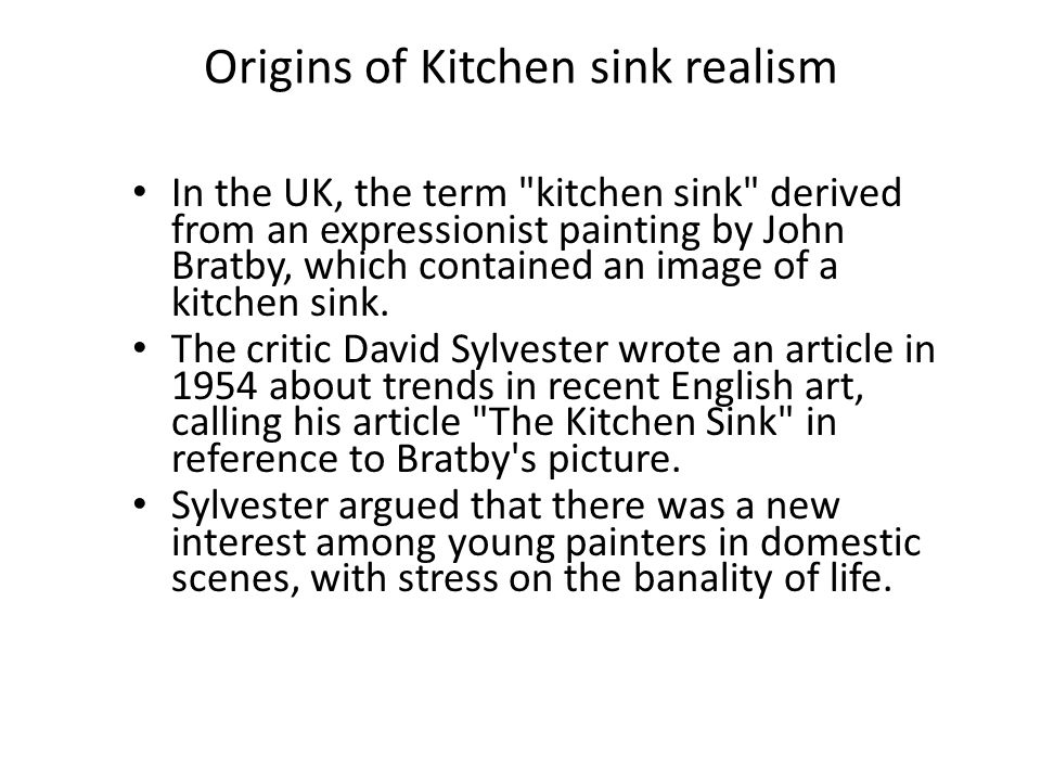 Origins of Kitchen sink realism
