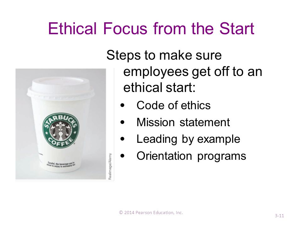 Ethical Focus from the Start