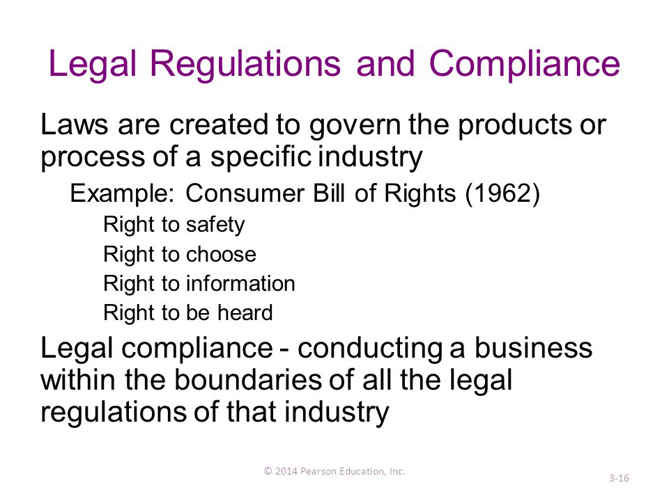 Legal Regulations and Compliance