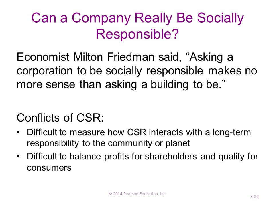 Can a Company Really Be Socially Responsible