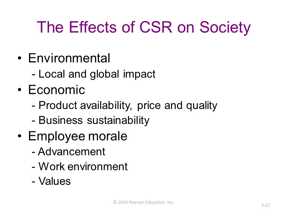 The Effects of CSR on Society
