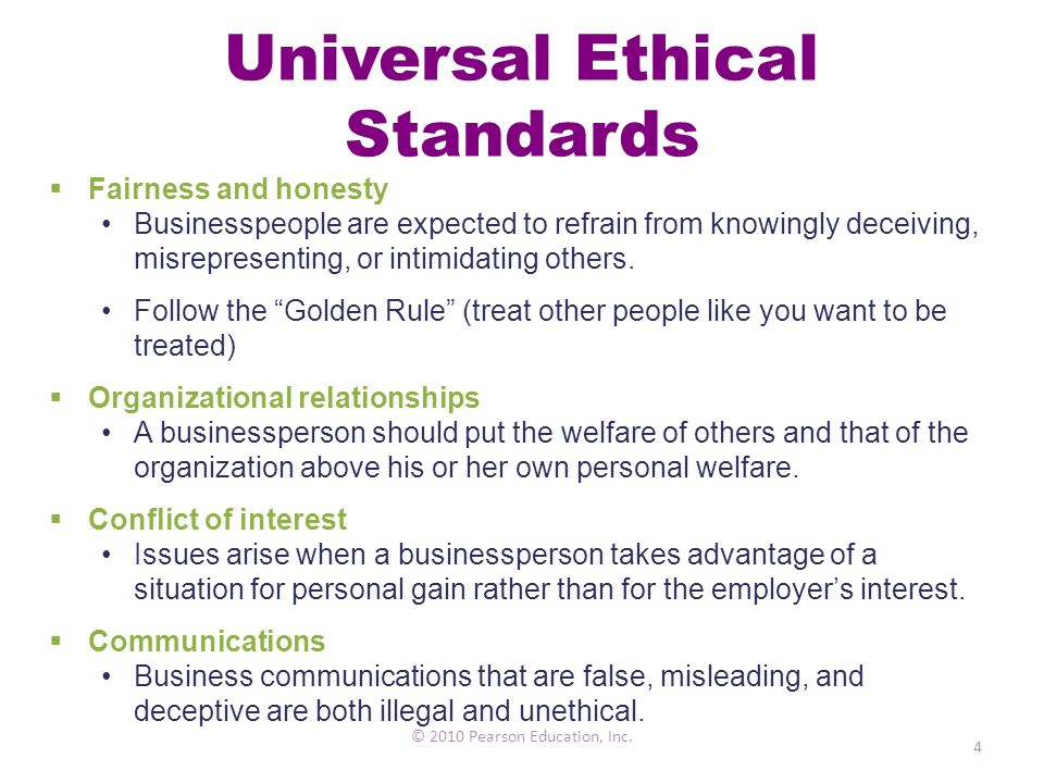 Universal Ethical Standards