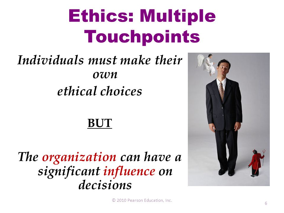 Ethics: Multiple Touchpoints