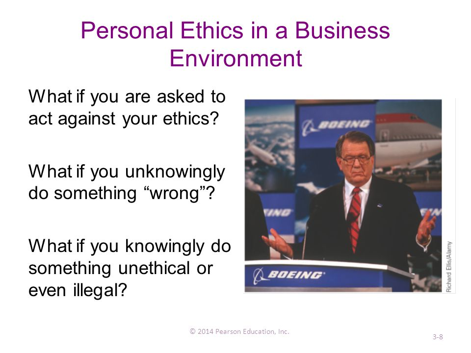Personal Ethics in a Business Environment