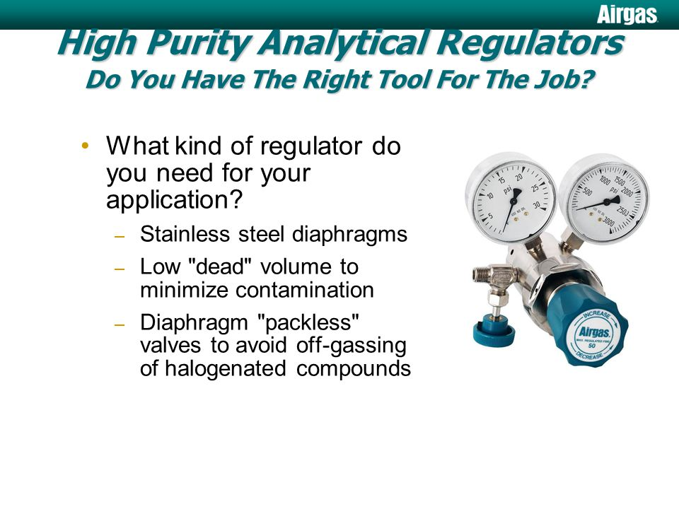 Analytical Components for Gas Line Purity Taylors, SC facility