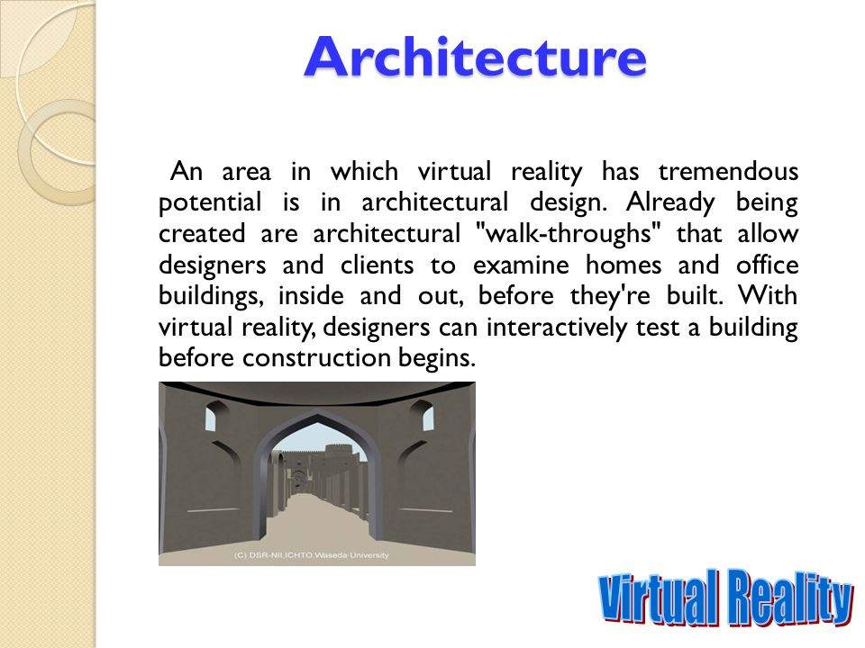 Architecture Virtual Reality