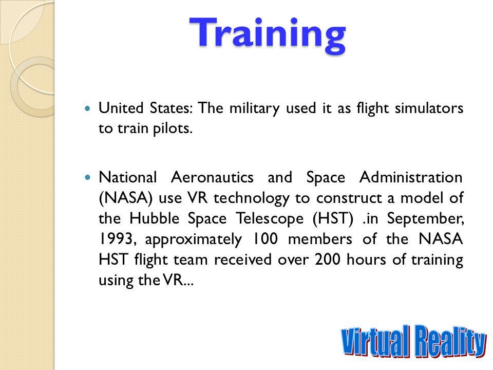 Training Virtual Reality