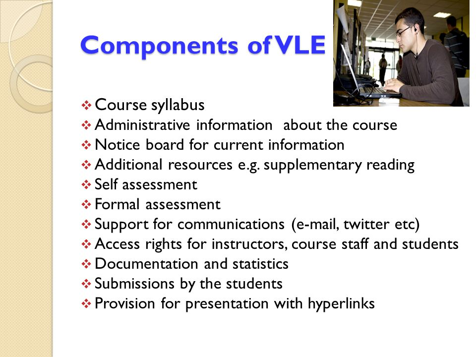Components of VLE Course syllabus