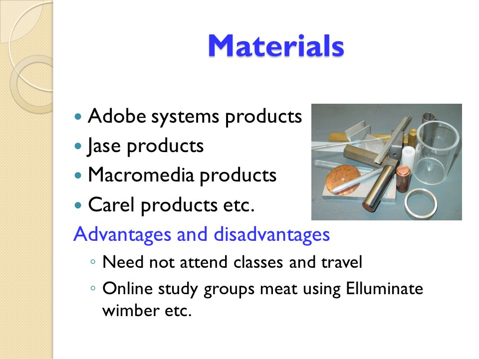 Materials Adobe systems products Jase products Macromedia products
