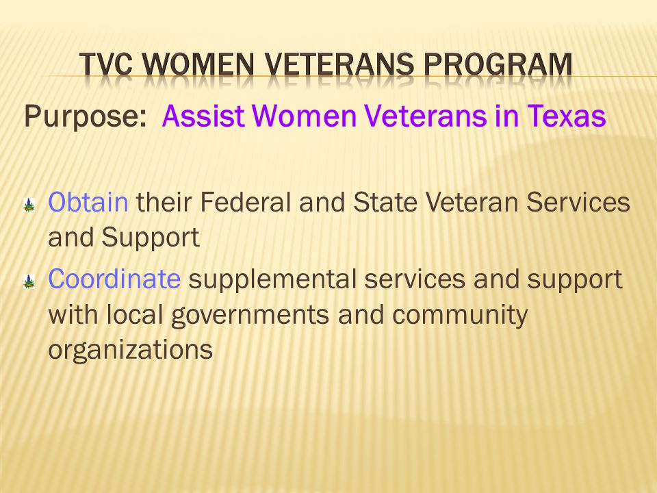 TVC Women Veterans Program