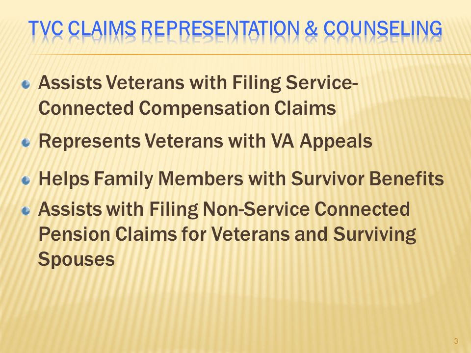 TVC Claims Representation & Counseling