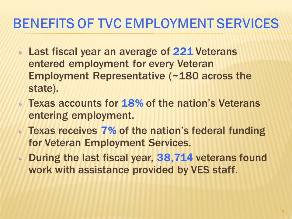 Benefits of TVC Employment Services