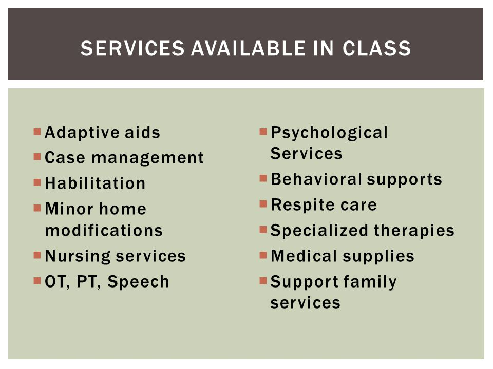 Services available in CLAss