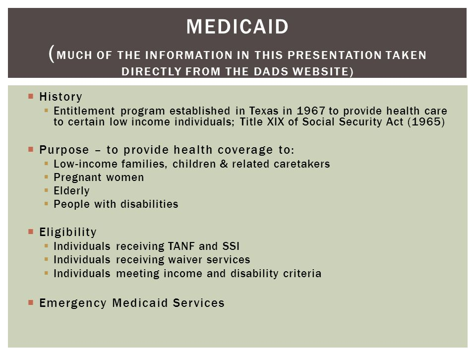 Opinion, false texas adult medicaid low income are