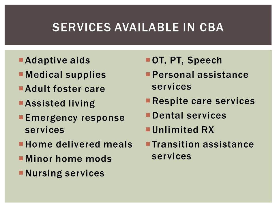 Services available in cba