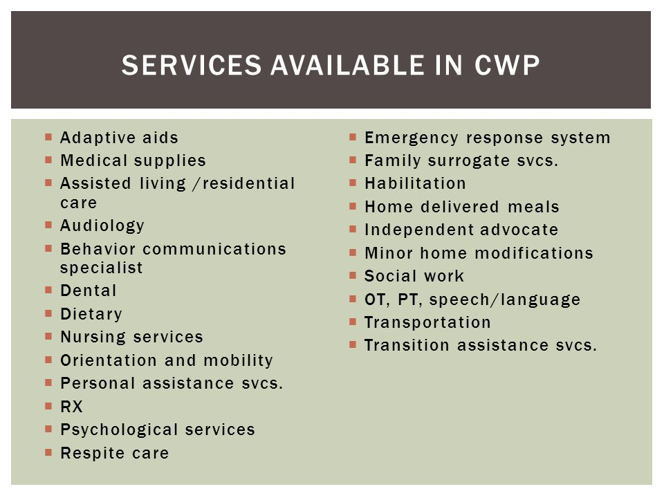 Services Available in CWP
