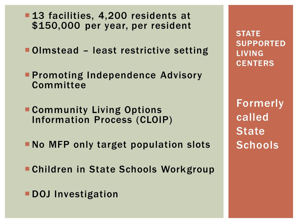 state supported living centers