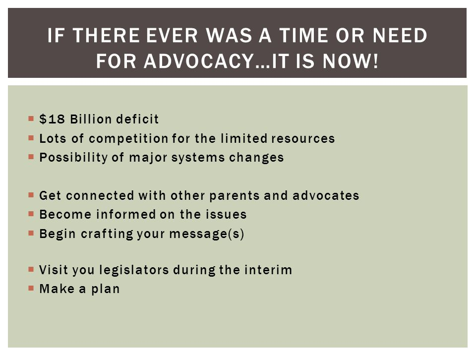 If there ever was a time or need for advocacy…it is now!