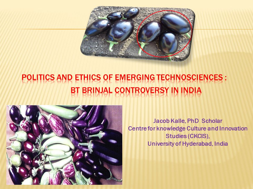Politics and Ethics of Emerging Technosciences :