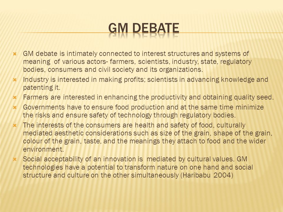 GM debate
