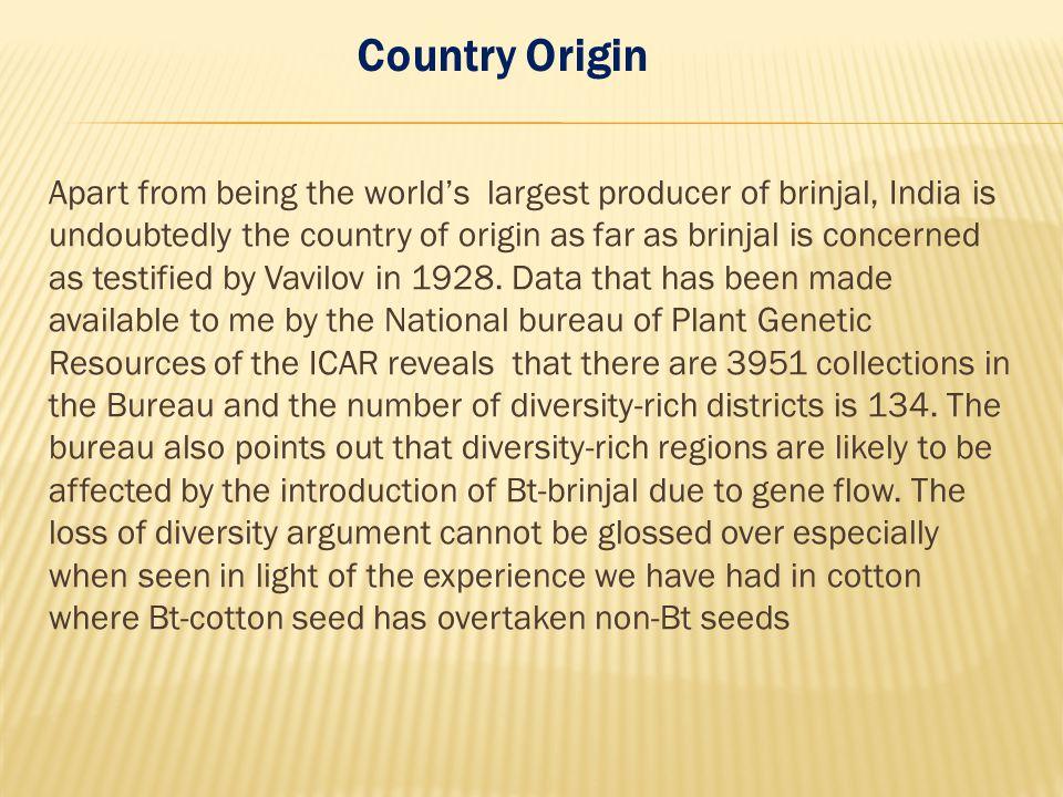 Country Origin