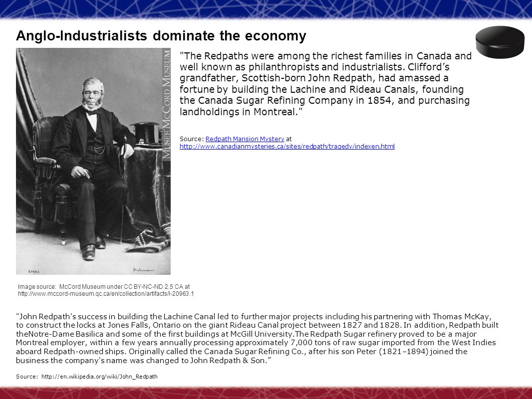 Anglo-Industrialists dominate the economy