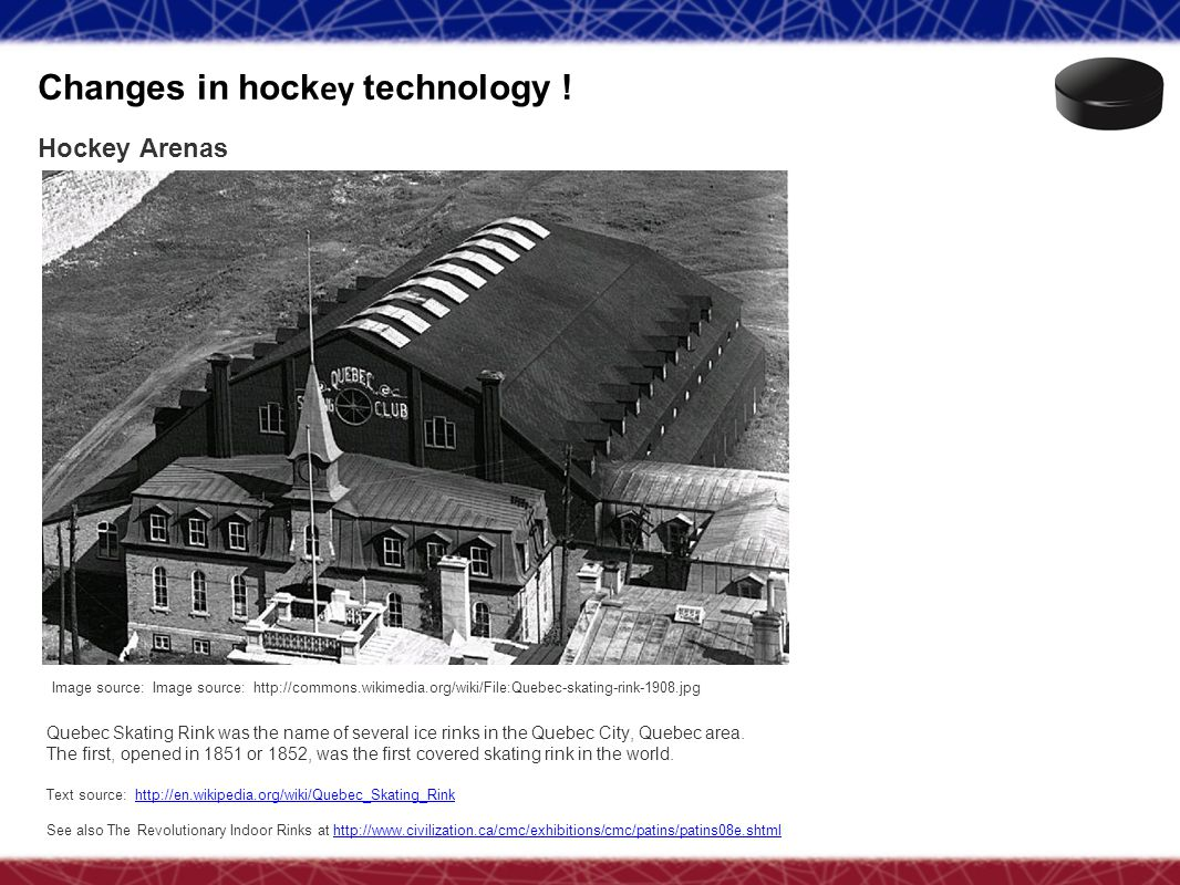 Changes in hockey technology !