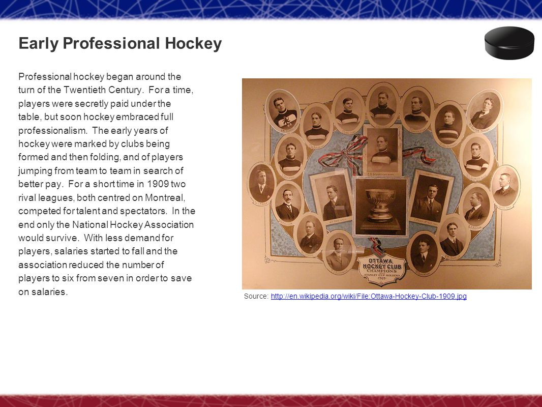 Early Professional Hockey