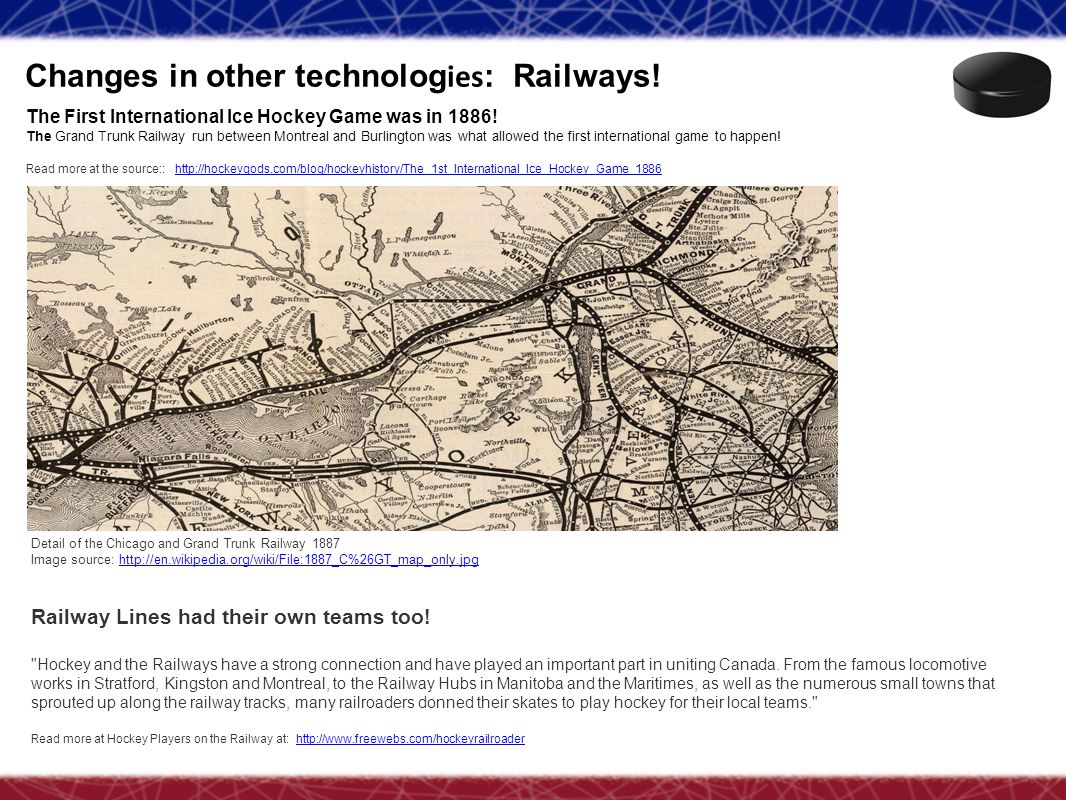 Changes in other technologies: Railways!