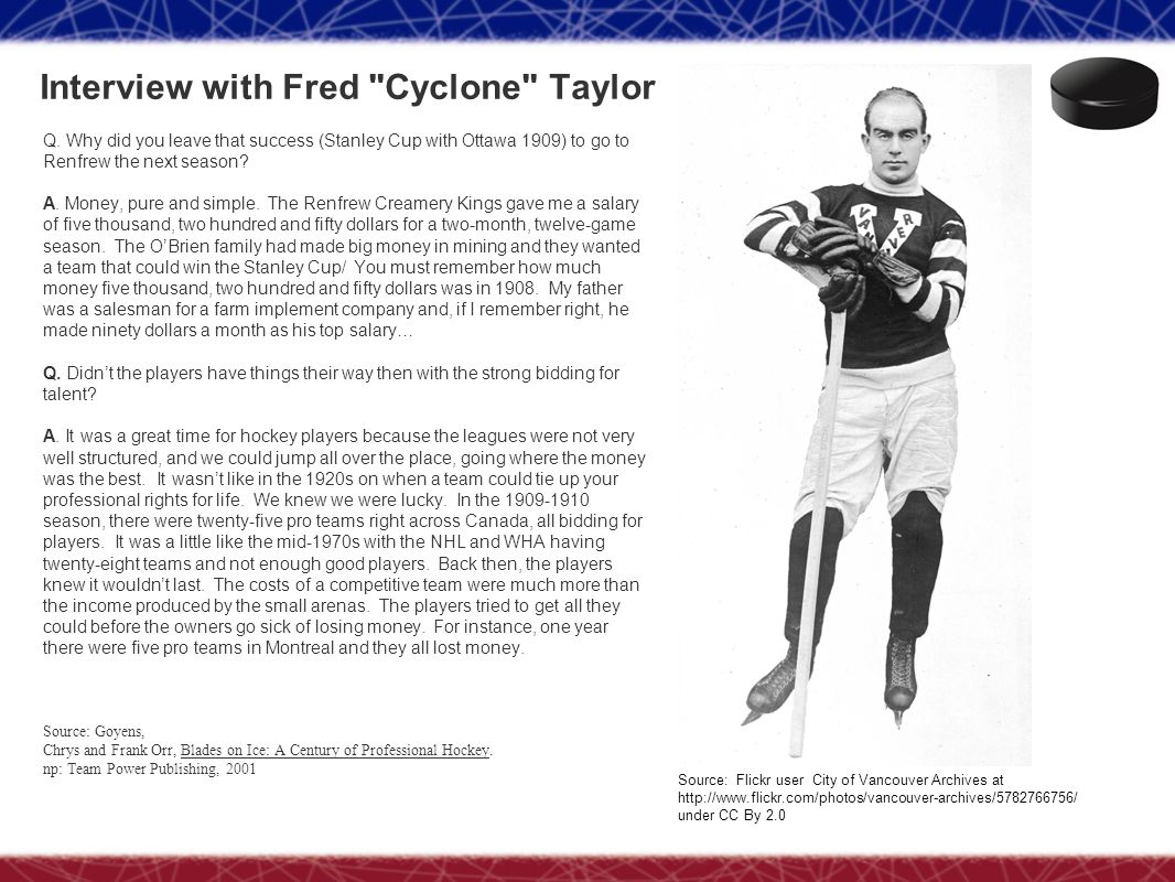 Interview with Fred Cyclone Taylor
