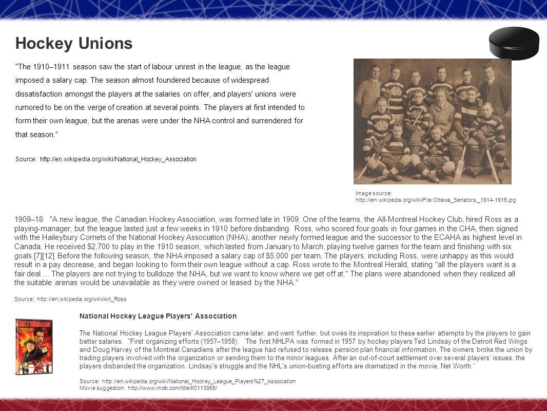 Hockey Unions