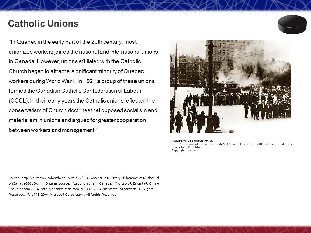 Catholic Unions