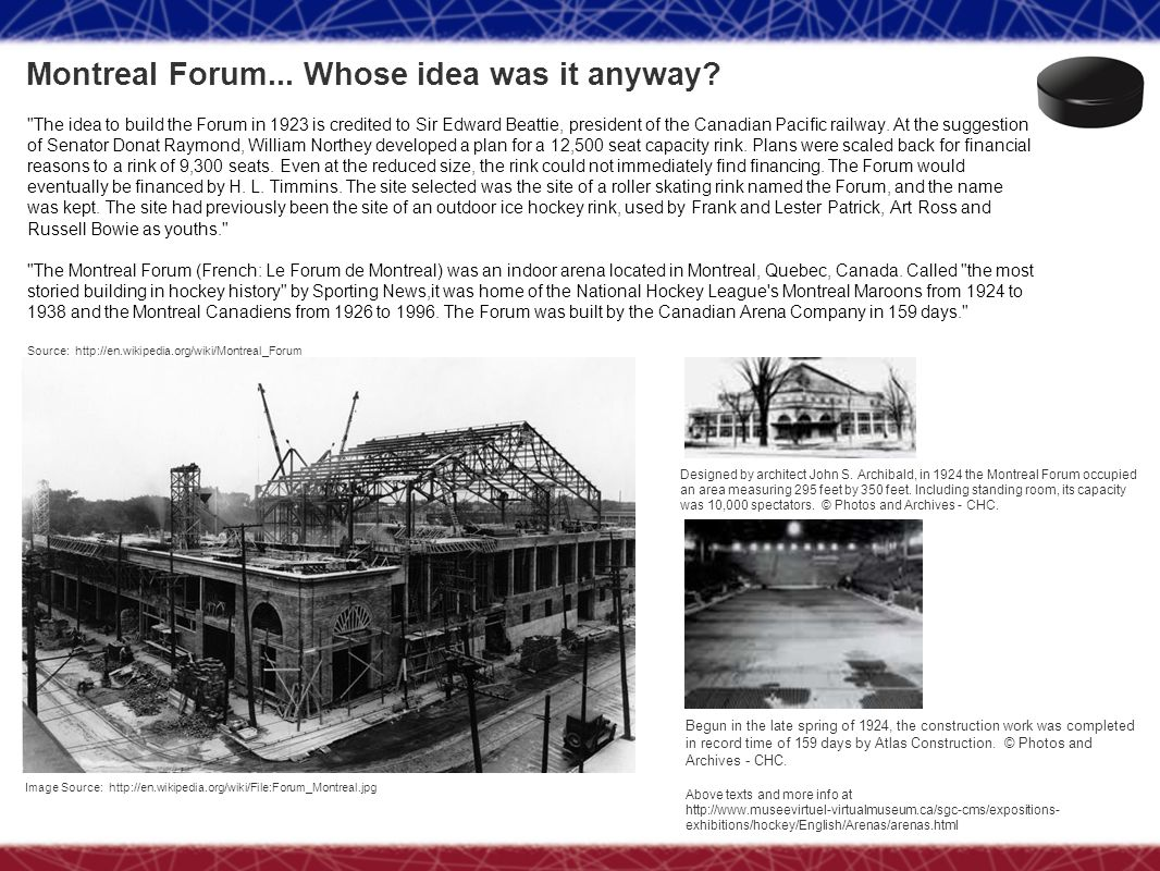 Montreal Forum... Whose idea was it anyway